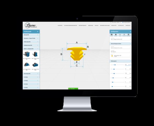 3D Konfigurator für Dichtungsprofile- LiSEMA® Dichtungstechnik