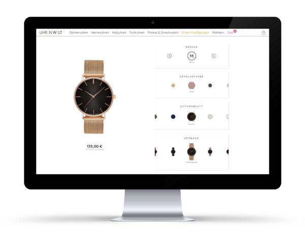 Online Konfigurator für Uhren - Uhrenwelt.shop