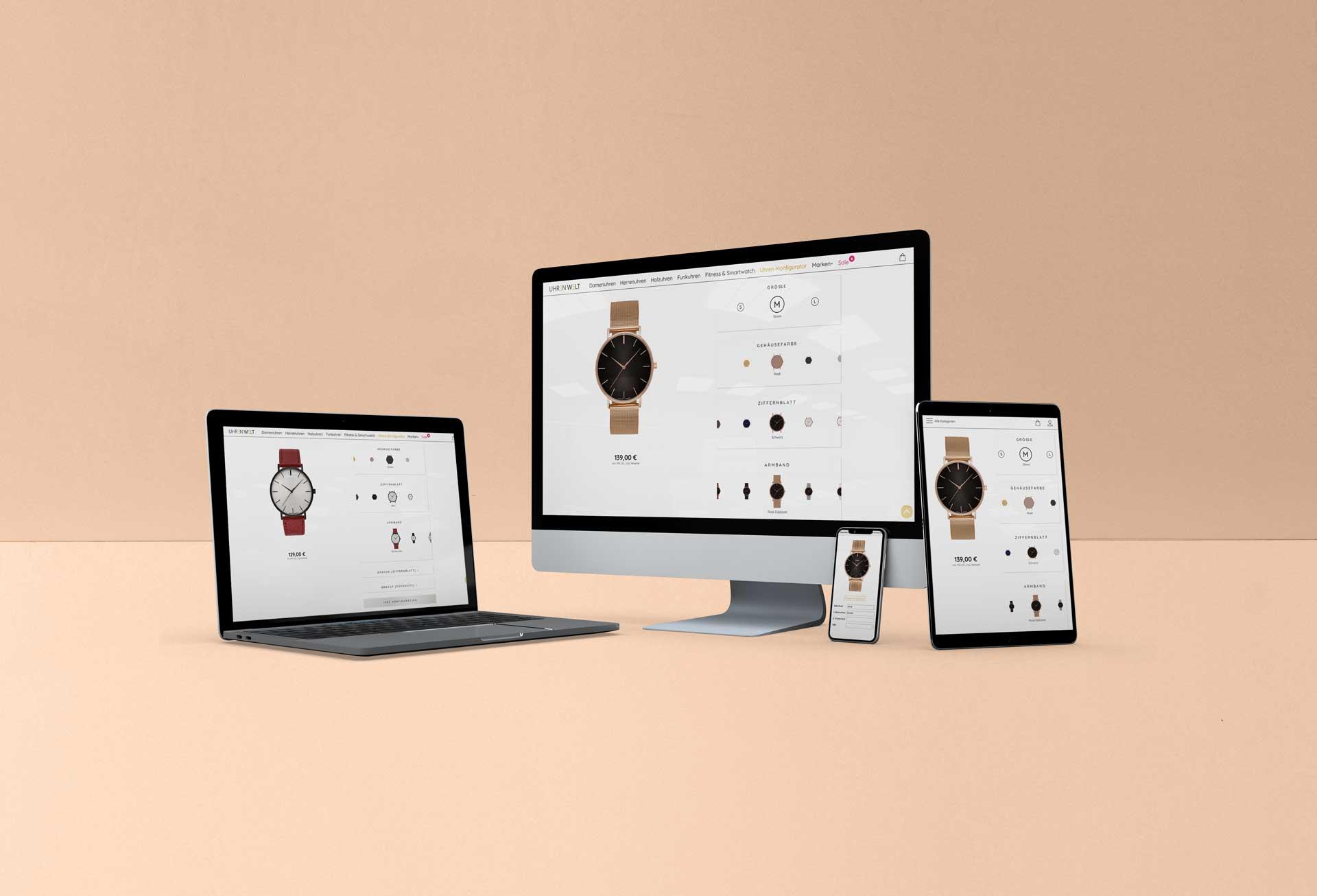 Online - Konfigurator für Uhren - Zeitspiel