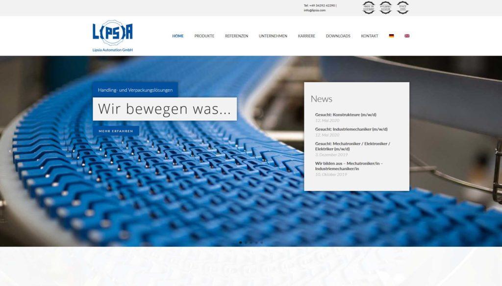 Webseite Lipsia Automation GmbH