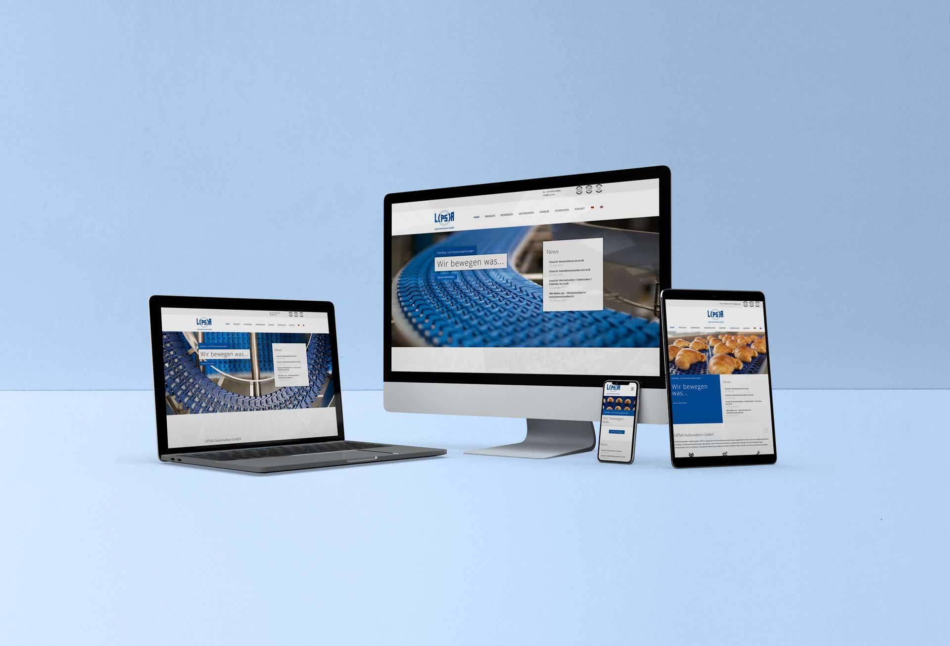 Webseite - Maschinenbauunternehmen - Lipsia Automation