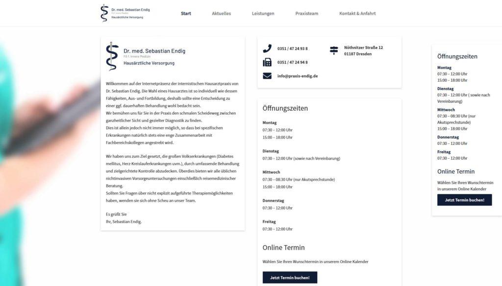 Webseite-Praxis-Endig