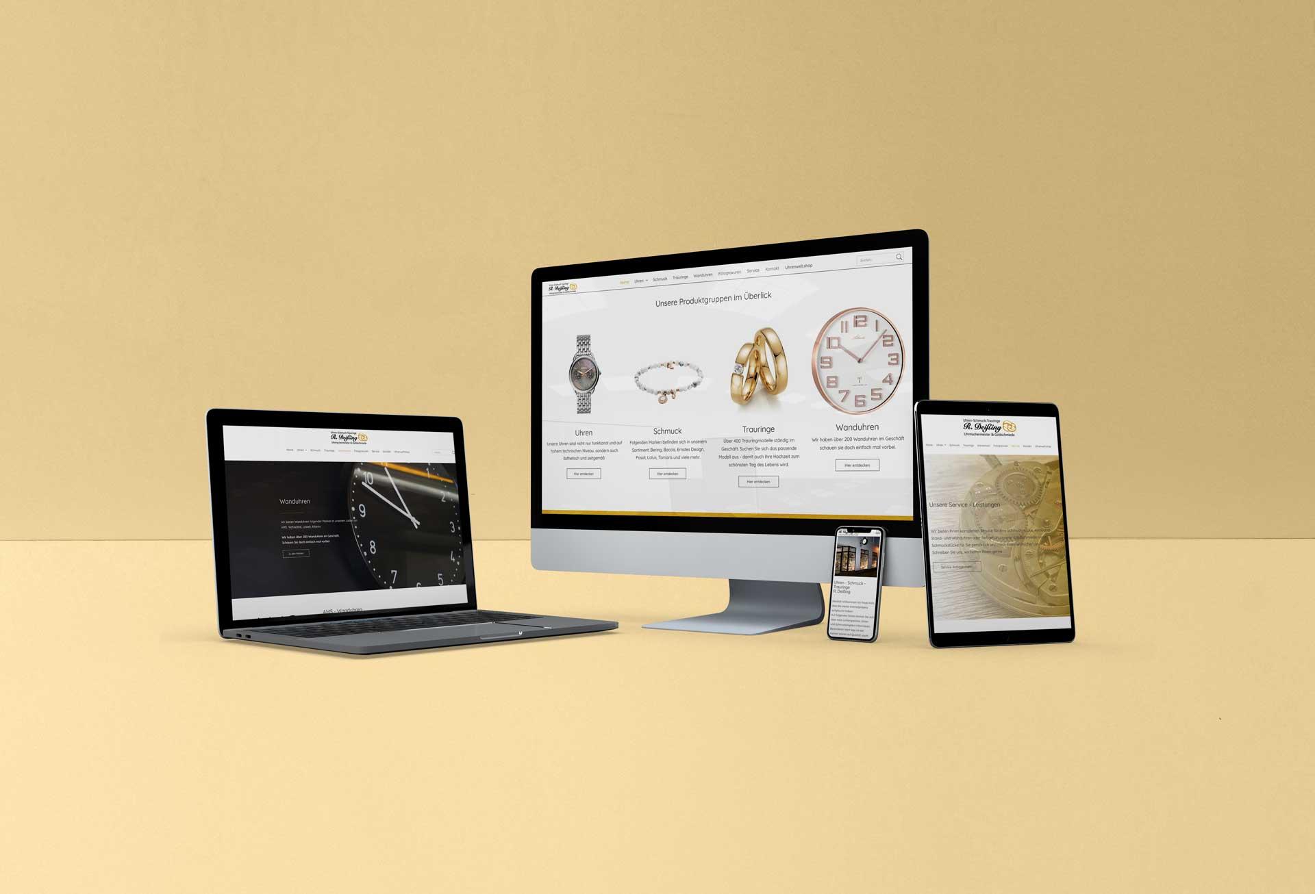 Webseite - Uhren-Schmuck-Trauringe R. Deißing