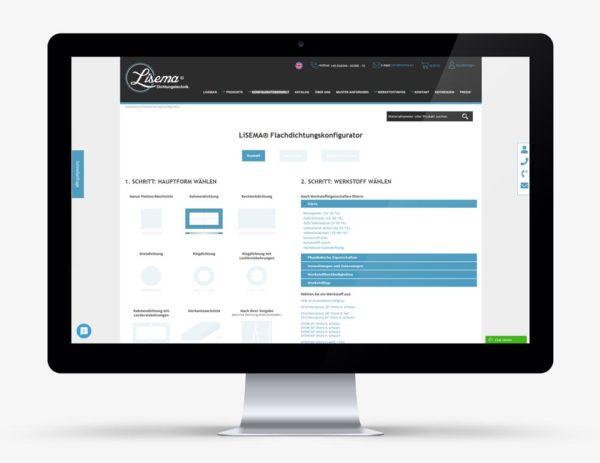 Online Konfigurator für Flachdichtungen - LiSEMA® Dichtungstechnik