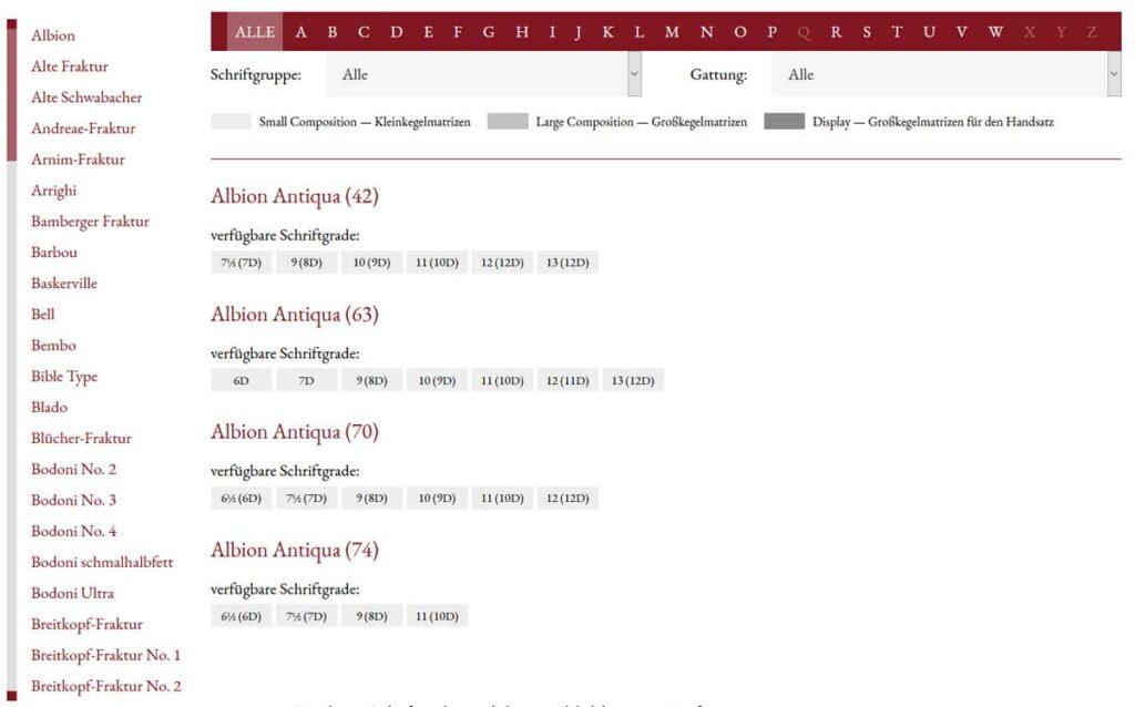 Schriftenverzeichnis Offizin Haag-Drugulin